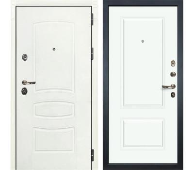 Входная металлическая дверь Лекс Сенатор 3К Шагрень белая / Эмаль Белая Вероника-1 (панель №55)