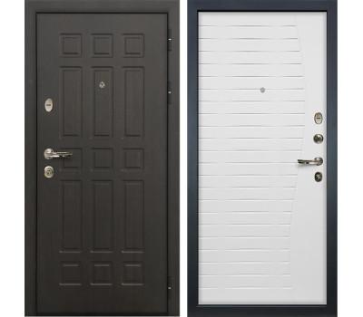 Входная металлическая дверь Лекс Сенатор 8 Ясень белый (панель №36)