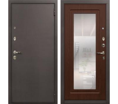 Входная стальная дверь Лекс 1А с Зеркалом Береза мореная (панель №30)