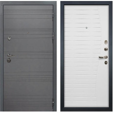 Входная дверь Лекс Сенатор 3К Софт графит / Ясень белый (панель №36)