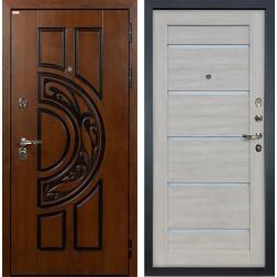 Входная дверь Лекс Спартак Cisa Клеопатра-2 Ясень кремовый (панель №66)