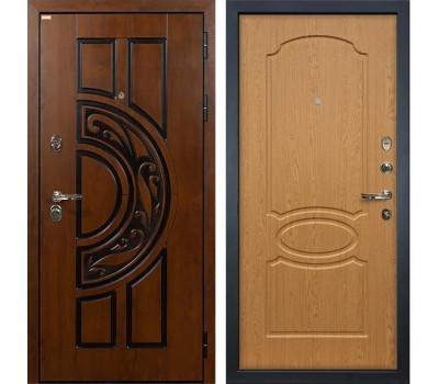 Входная стальная дверь Лекс Спартак Cisa Дуб натуральный (панель №15)