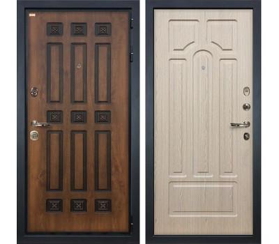 Входная металлическая дверь Лекс Гладиатор 3К Винорит Дуб беленый (панель №25)