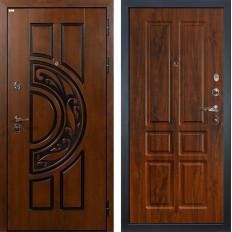 Входная дверь Лекс Спартак Cisa Винорит дуб тёмный (панель №91)