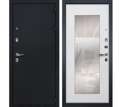Входная стальная дверь Лекс 2 Рим с Зеркалом Ясень белый (панель №37)