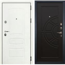 Входная стальная дверь Лекс Легион 3К Шагрень белая / Венге (панель №43)