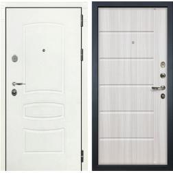 Входная стальная дверь Лекс Легион 3К Шагрень белая / Сандал белый (панель №42)
