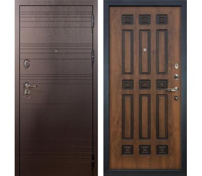 Входная стальная дверь Лекс Легион 3К Голден патина черная (панель №33)