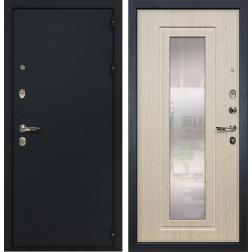 Входная дверь Лекс 2 Рим с Зеркалом Дуб беленый (панель №23)