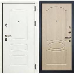 Входная дверь Лекс Сенатор 3К Шагрень белая / Дуб беленый (панель №14)