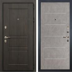 Входная дверь Лекс Сенатор Винорит Бетон серый (панель №80)