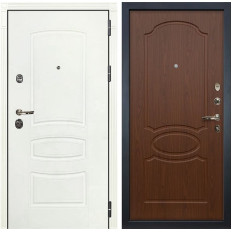 Входная дверь Лекс Сенатор 3К Шагрень белая / Береза мореная (панель №12)