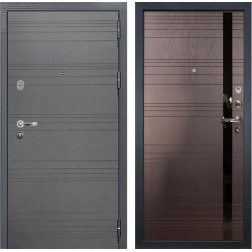 Входная стальная дверь Лекс Легион 3К Софт графит / Ясень шоколад (панель №31)