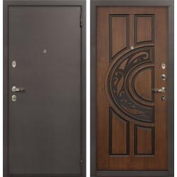 Входная дверь Лекс 1А Винорит Голден патина черная (панель №27)