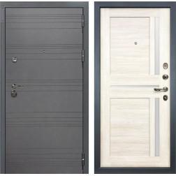 Входная дверь Лекс Сенатор 3К Софт графит / Баджио Дуб беленый (панель №47)