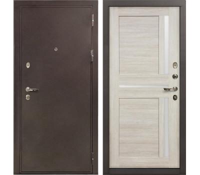 Входная стальная дверь Лекс 5А Цезарь Баджио Ясень кремовый (панель №49)