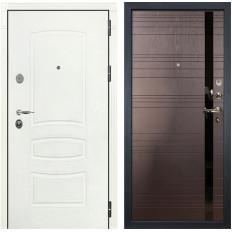 Входная дверь Лекс Легион 3К Шагрень белая / Ясень шоколад (панель №31)