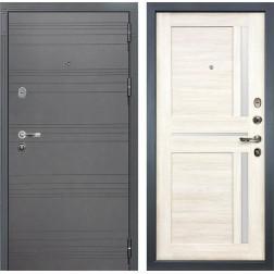 Входная дверь Лекс Легион 3К Софт графит / Баджио Дуб беленый (панель №47)