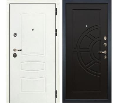 Входная металлическая дверь Лекс Сенатор 3К Шагрень белая / Венге (панель №43)