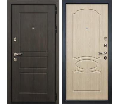 Входная стальная дверь Лекс Сенатор Винорит Дуб беленый (панель №14)