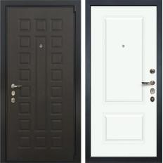 Входная дверь Лекс 4А Неаполь Mottura Вероника-1 Шпон Эмаль Белая (панель №55)