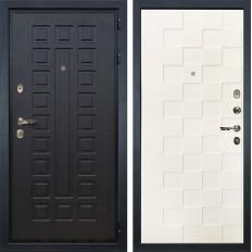 Входная дверь Лекс Гладиатор 3К Белая шагрень Квадро (панель №71)