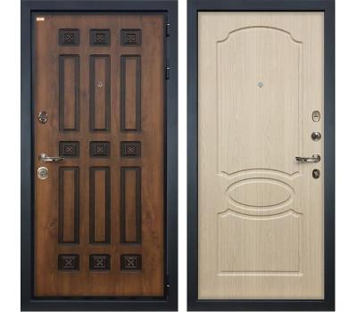 Входная металлическая дверь Лекс Гладиатор 3К Винорит Дуб беленый (панель №14)