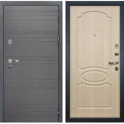 Входная стальная дверь Лекс Легион 3К Софт графит / Дуб беленый (панель №14)