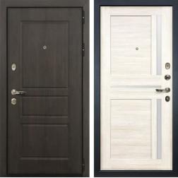 Входная стальная дверь Лекс Сенатор Винорит Баджио Дуб беленый (панель №47)
