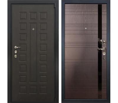 Входная стальная дверь Лекс 4А Неаполь Mottura Ясень шоколад (панель №31)