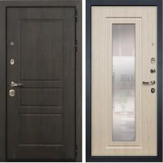 Входная дверь Лекс Сенатор Винорит с Зеркалом Дуб беленый (панель №23)