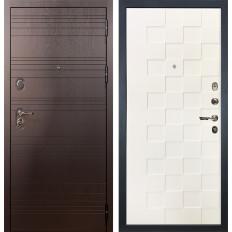 Входная дверь Лекс Легион Белая шагрень Квадро (панель №71)