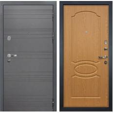 Входная дверь Лекс Легион 3К Софт графит / Дуб натуральный (панель №15)