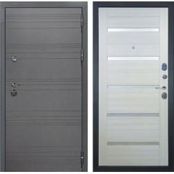 Входная дверь Лекс Сенатор 3К Софт графит / Клеопатра-2 Дуб беленый (панель №58)