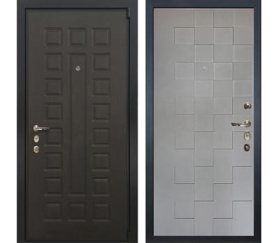 Входная стальная дверь Лекс 4А Неаполь Mottura Графит софт Квадро (панель №72)
