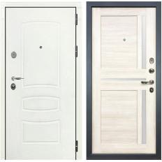 Входная дверь Лекс Легион 3К Шагрень белая / Баджио Дуб беленый (панель №47)