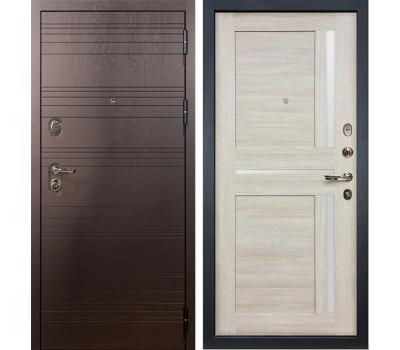 Входная стальная дверь Лекс Легион Баджио Ясень кремовый (панель №49)