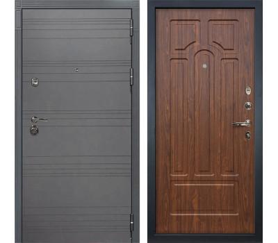 Входная металлическая дверь Лекс Сенатор 3К Софт графит / Береза мореная (панель №26)