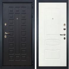 Входная дверь Лекс Гладиатор 3К Белая шагрень (панель №68)