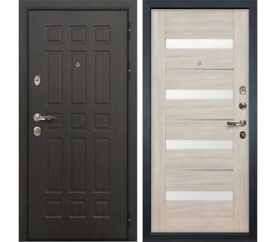 Входная металлическая дверь Лекс Сенатор 8 Сицилио Ясень кремовый (панель №48)