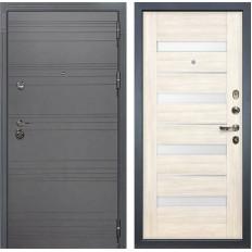 Входная дверь Лекс Сенатор 3К Софт графит / Сицилио Дуб беленый (панель №46)