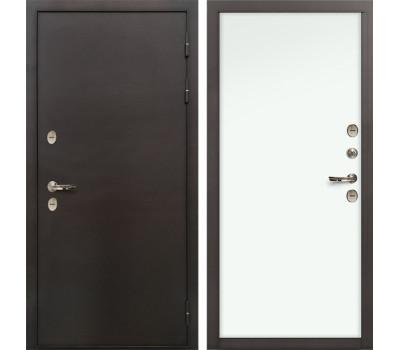 Входная уличная дверь с терморазрывом Лекс Термо Сибирь 3К Винорит Белый (панель №59)