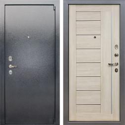 Входная стальная дверь Лекс 3 Барк Верджиния (Серый букле / Ясень кремовый) панель №40