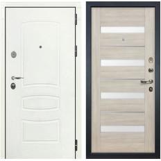 Входная дверь Лекс Легион 3К Шагрень белая / Сицилио Ясень кремовый (панель №48)