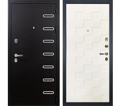 Входная металлическая дверь Лекс Витязь Белая шагрень Квадро (панель №71)