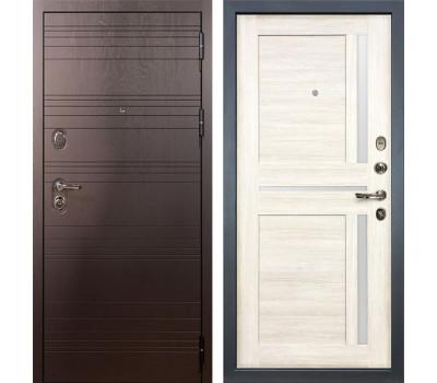 Входная стальная дверь Лекс Легион Баджио Дуб беленый (панель №47)