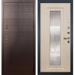 Входная дверь Лекс Легион с Зеркалом Дуб беленый (панель №23)