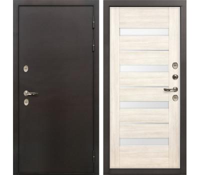 Входная уличная дверь с терморазрывом Лекс Термо Сибирь 3К Сицилио Дуб беленый (панель №46)