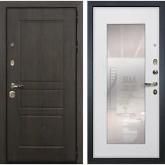 Входная дверь Лекс Сенатор Винорит с Зеркалом Ясень белый (панель №37)