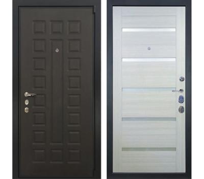 Входная стальная дверь Лекс 4А Неаполь Mottura Клеопатра-2 Дуб беленый (панель №58)